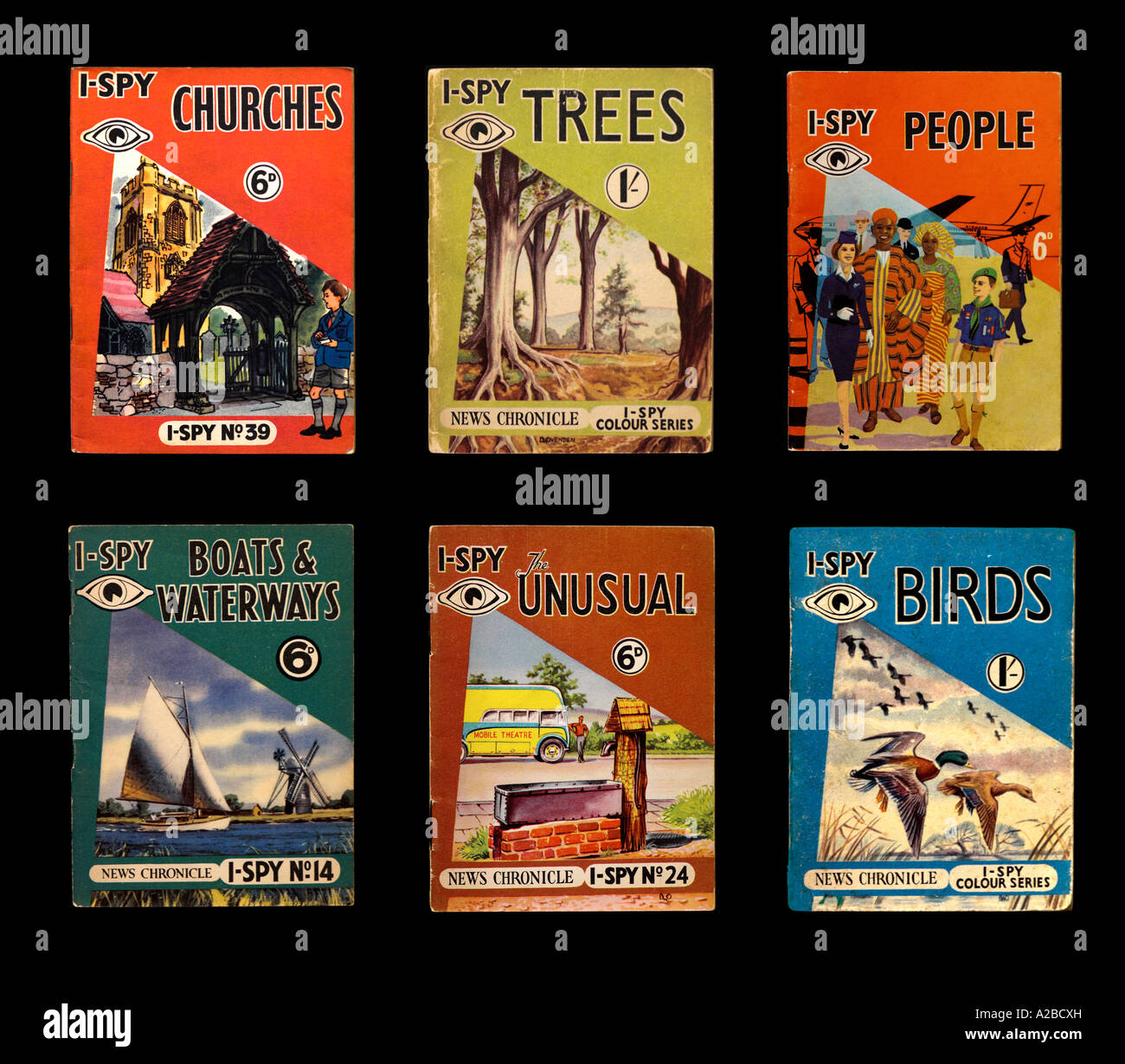 I-Spy Books 1950s 1960s For Editorial Use only - Stock Image