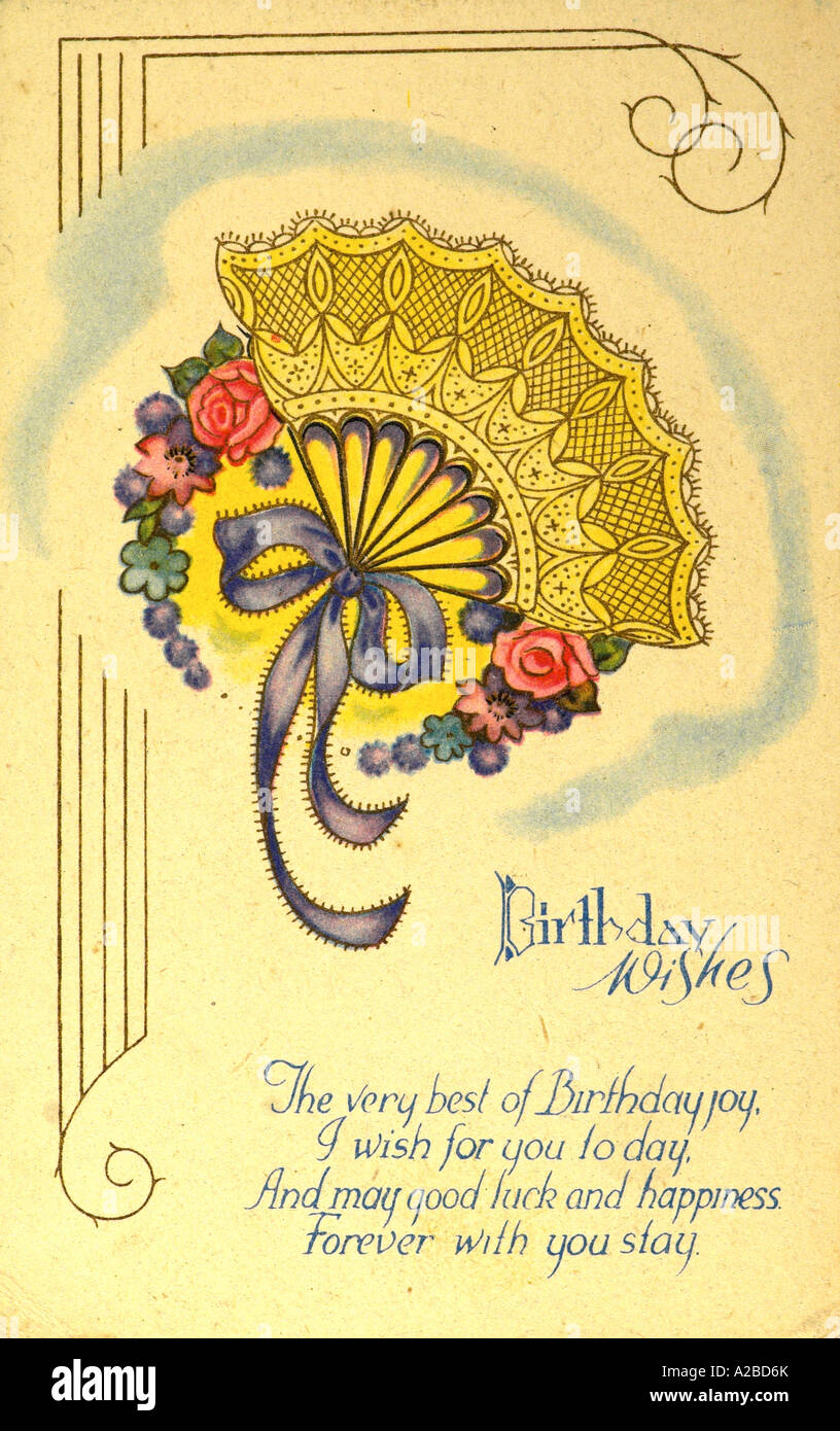 Birthday greetings post card early 20th century stock photo birthday greetings post card early 20th century m4hsunfo
