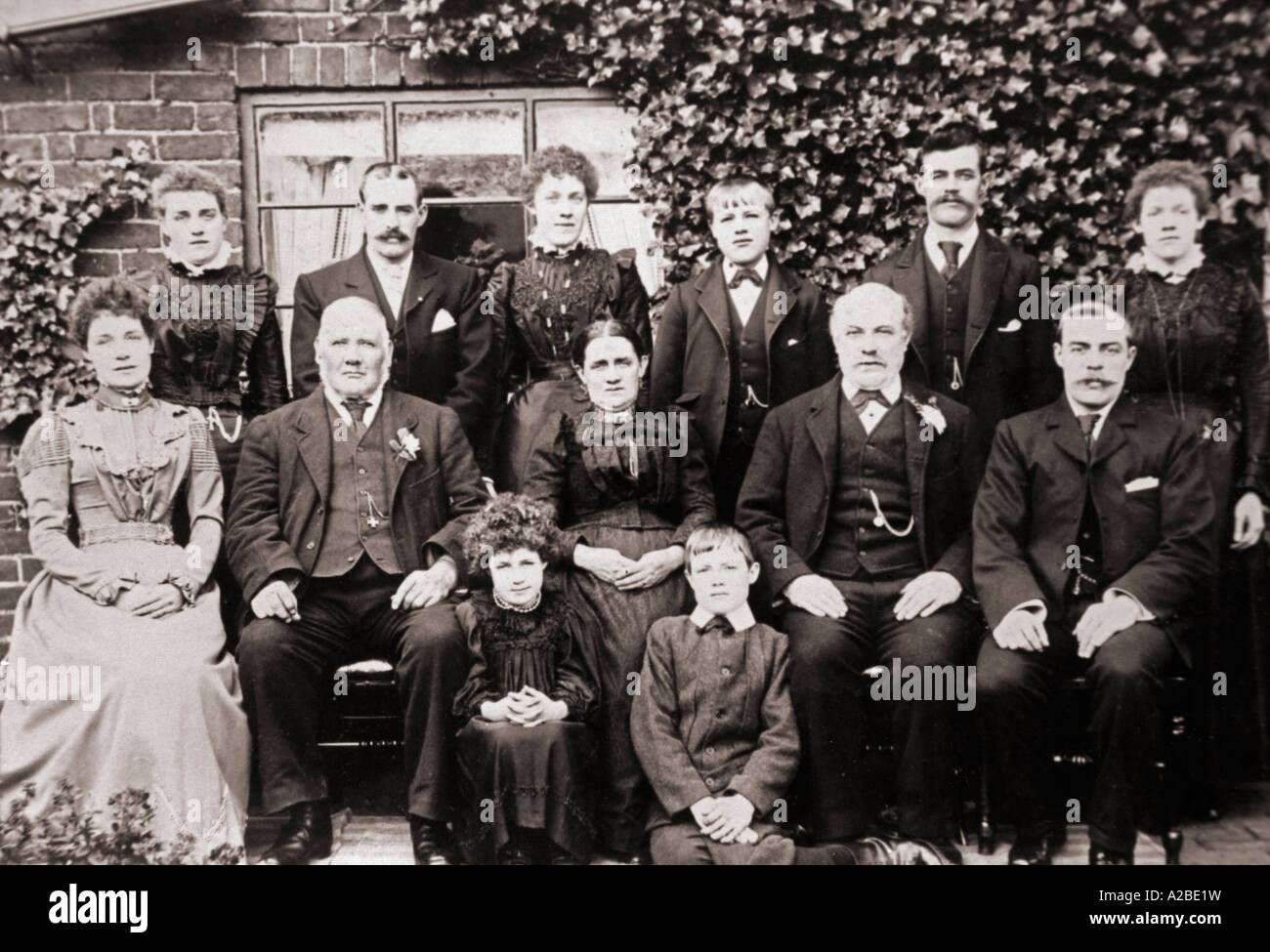 A Family Photograph late 1890s - Stock Image