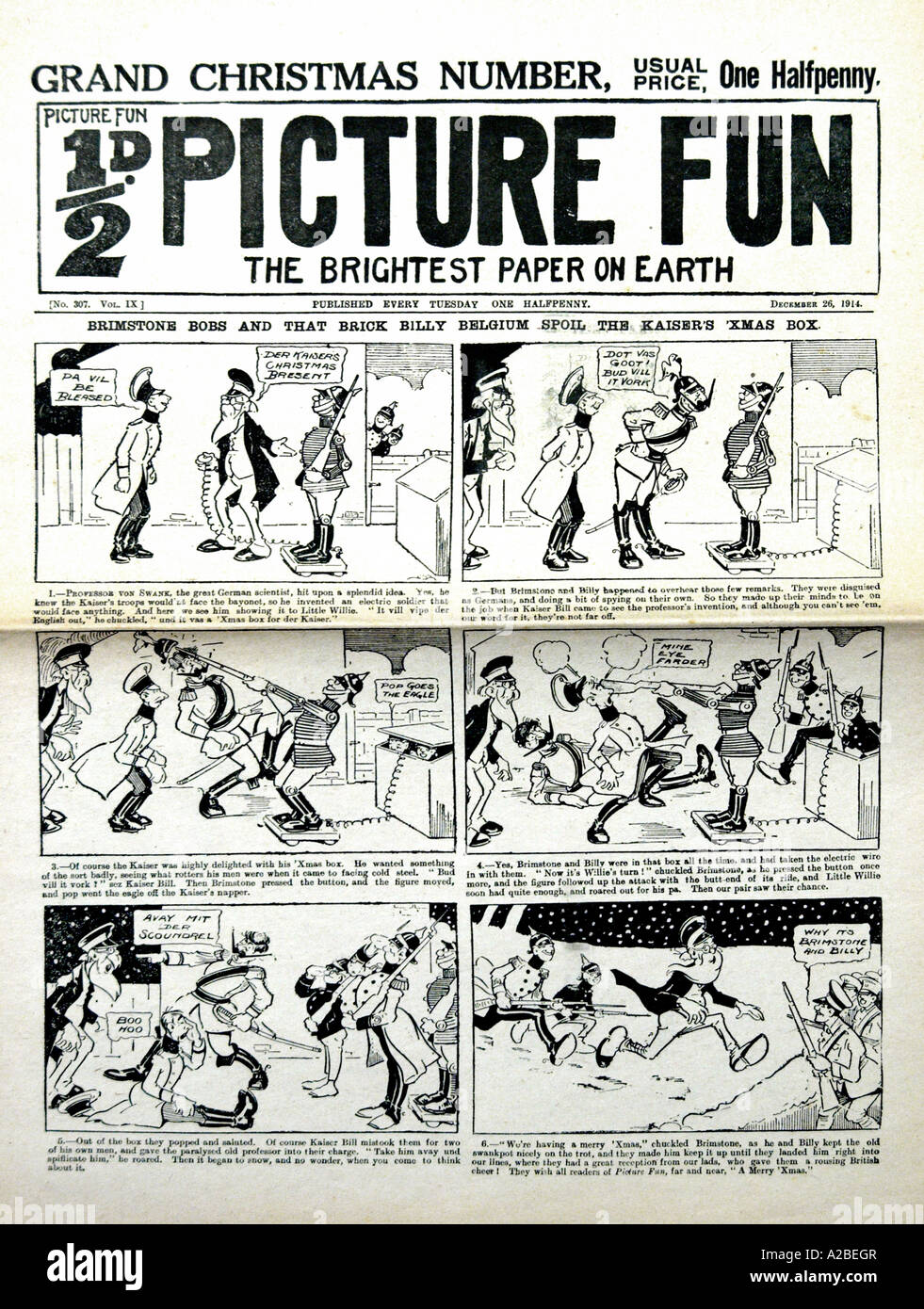Picture Fun Comic 1914 EDITORIAL USE ONLY - Stock Image