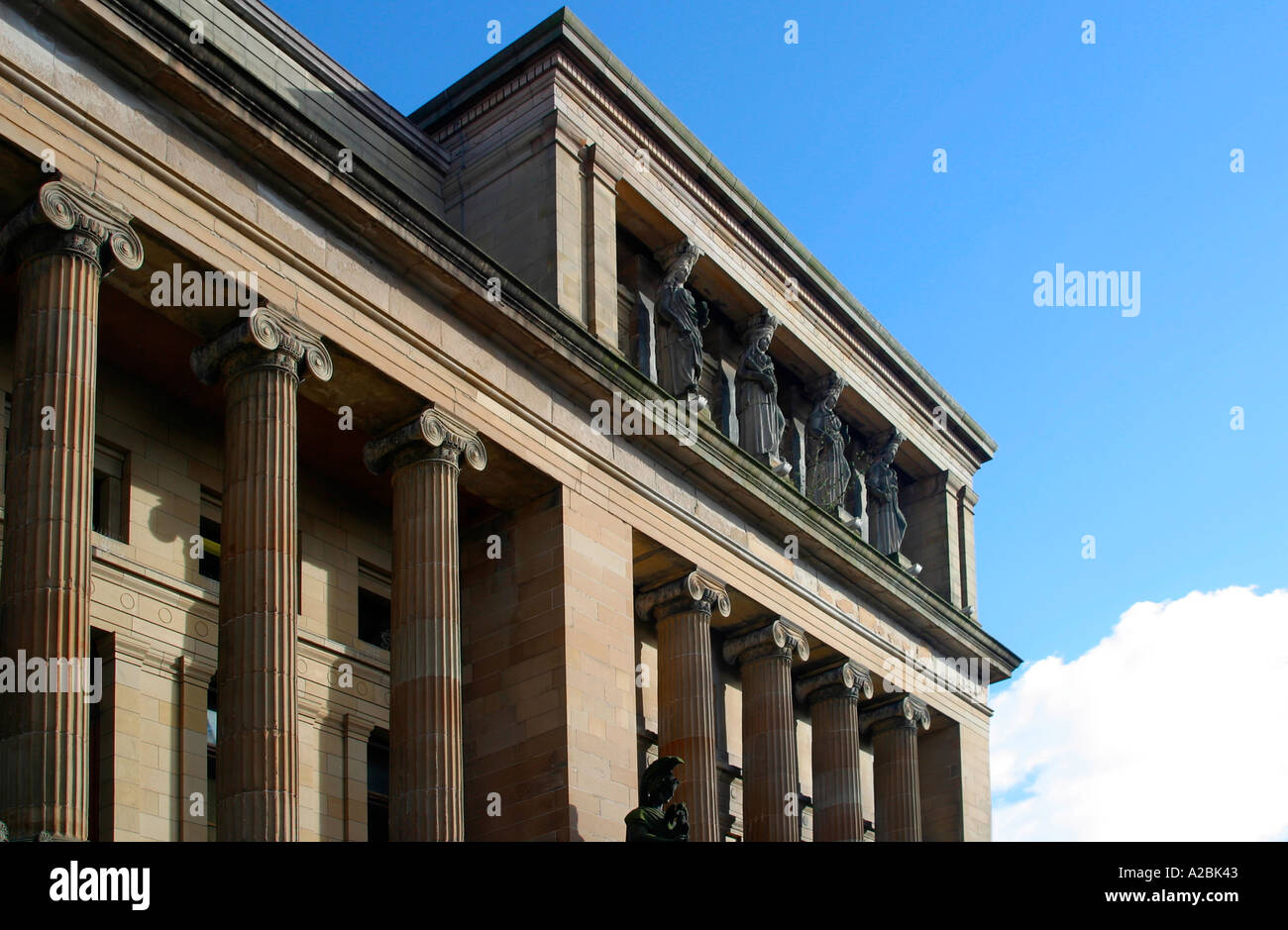 Greek style architectural detail on Mitchell Theatre Glasgow Stock Photo