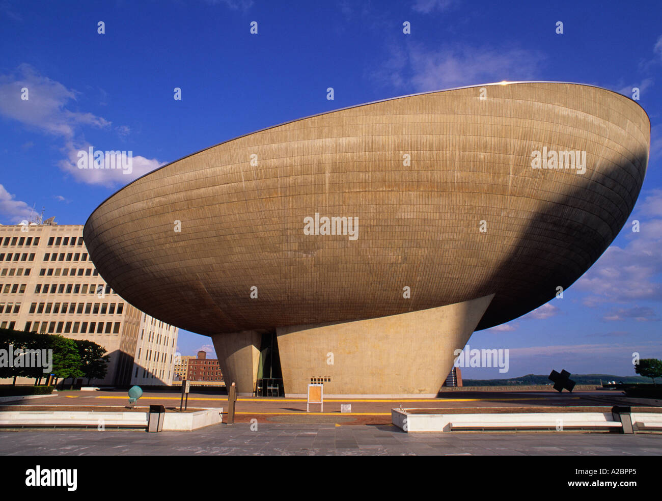 USA Albany New York The State The Center For The Performing Arts The Egg - Stock Image