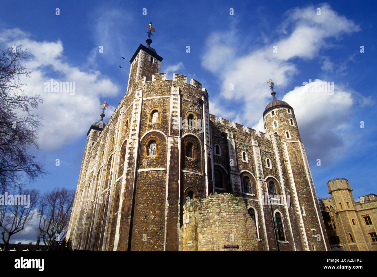 Tower of London built by William the Conqueror Great Britain UK London White Tower - Stock Image