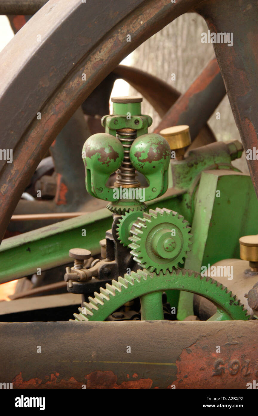 Governor mechanism on historic steam engine - Stock Image