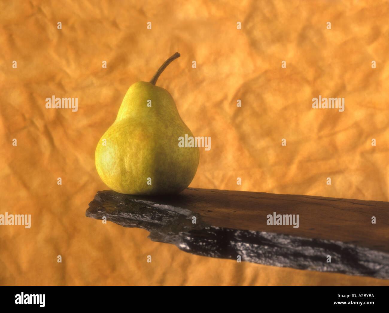 Pear Portrait - Stock Image