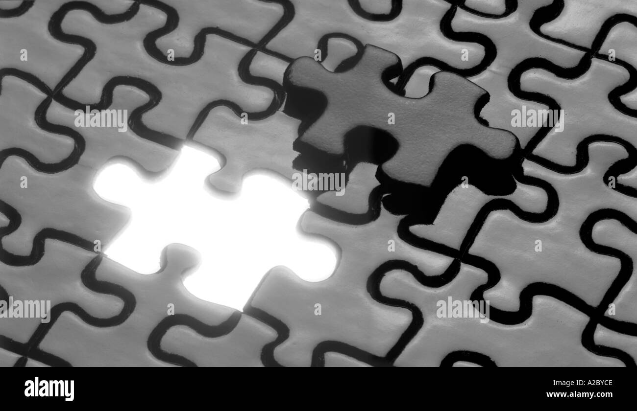 The Last Piece Of The Puzzle - Stock Image