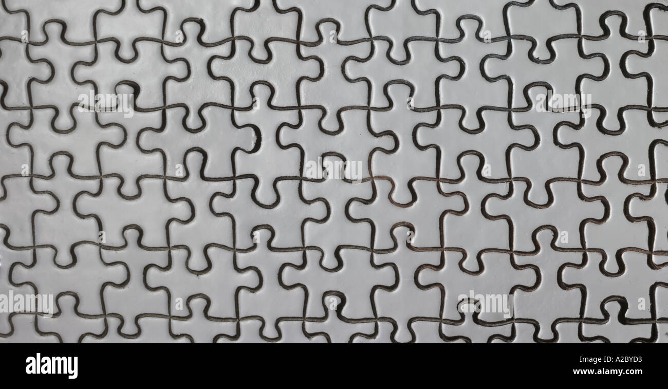 Puzzle Pattern Detail Stock Photo