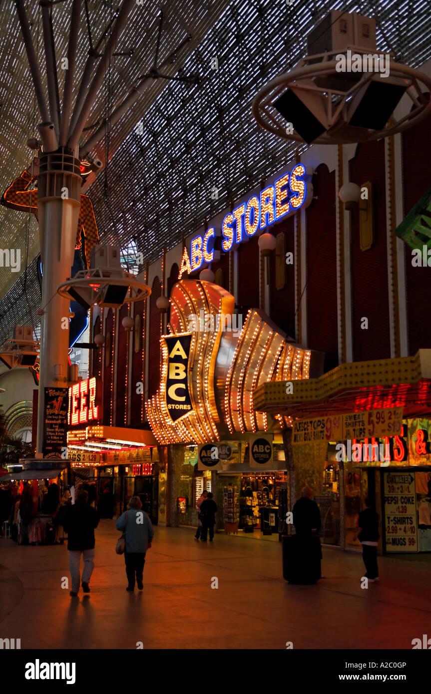 Abc Las Vegas >> The Abc Stores In Fremont Street Experience Las Vegas Stock