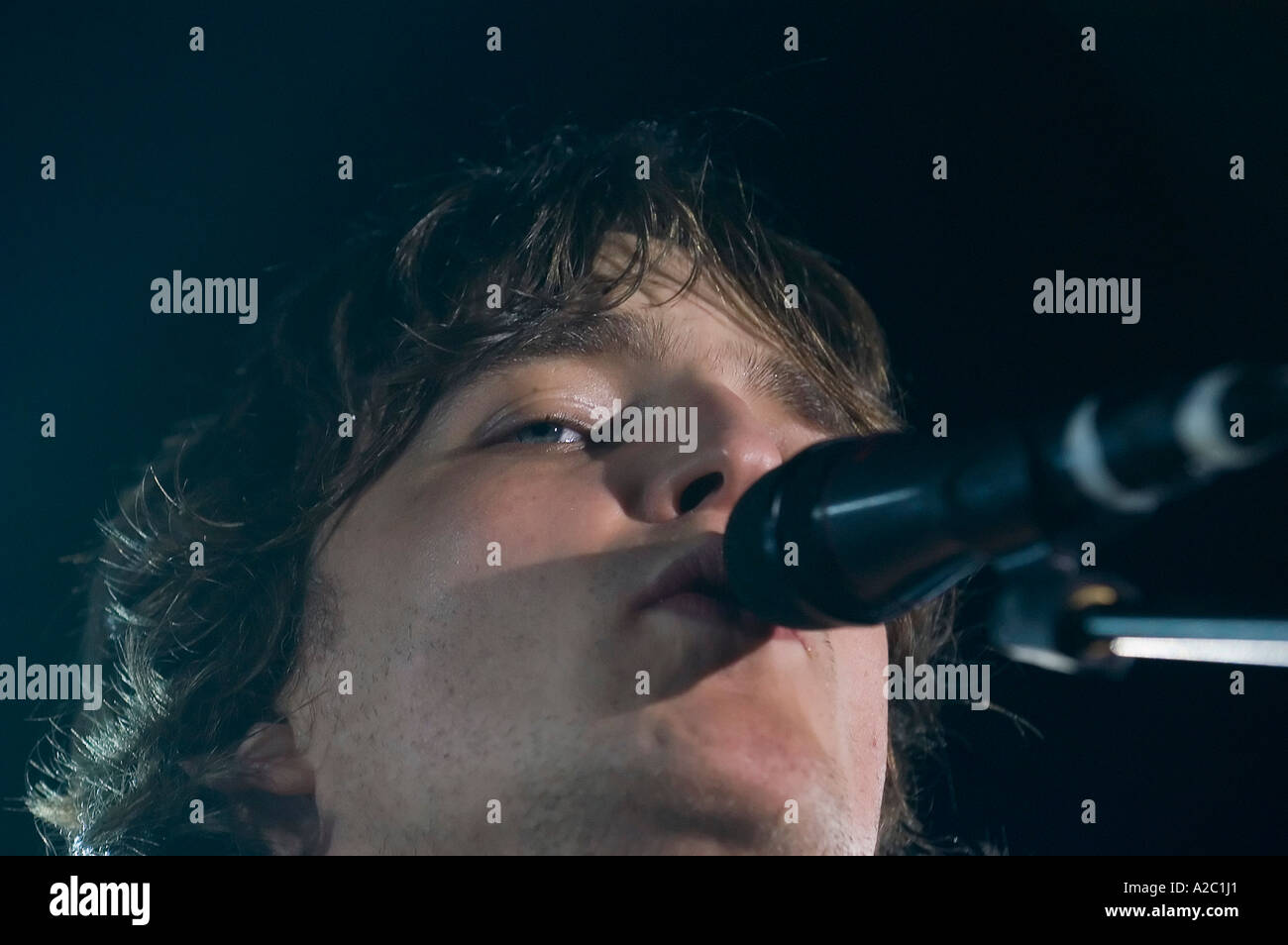 James Walsh of British band Starsailor performing live at the University of East Anglia - Stock Image