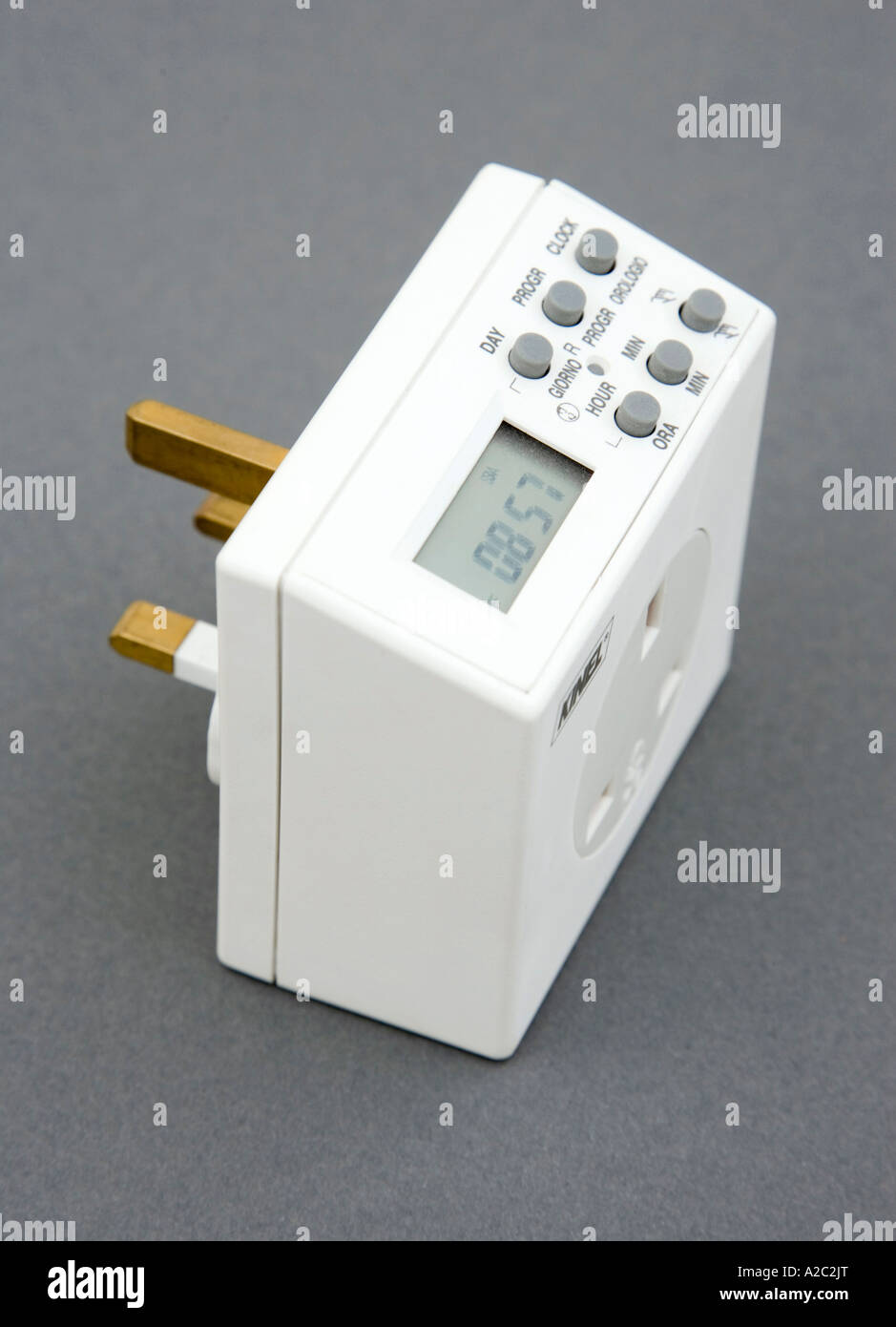 Socket Timer Stock Photos Images Alamy Circuit Breaker With 240 Volt Mains Power Digital Image
