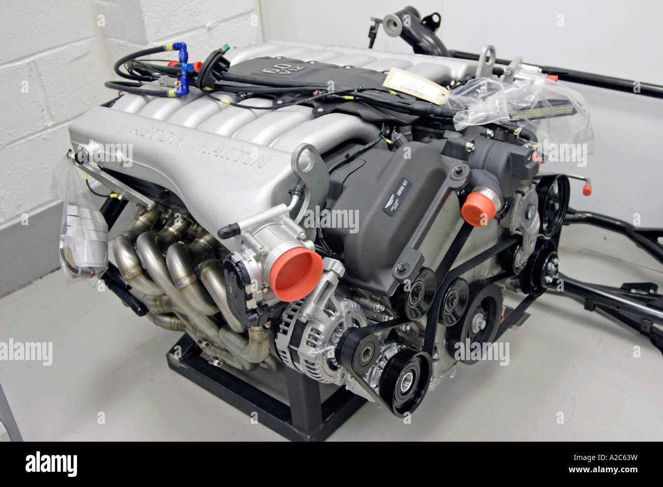 Aston Martin Racing Dbrs9 Engine In The Aston Martin Racing Workshop