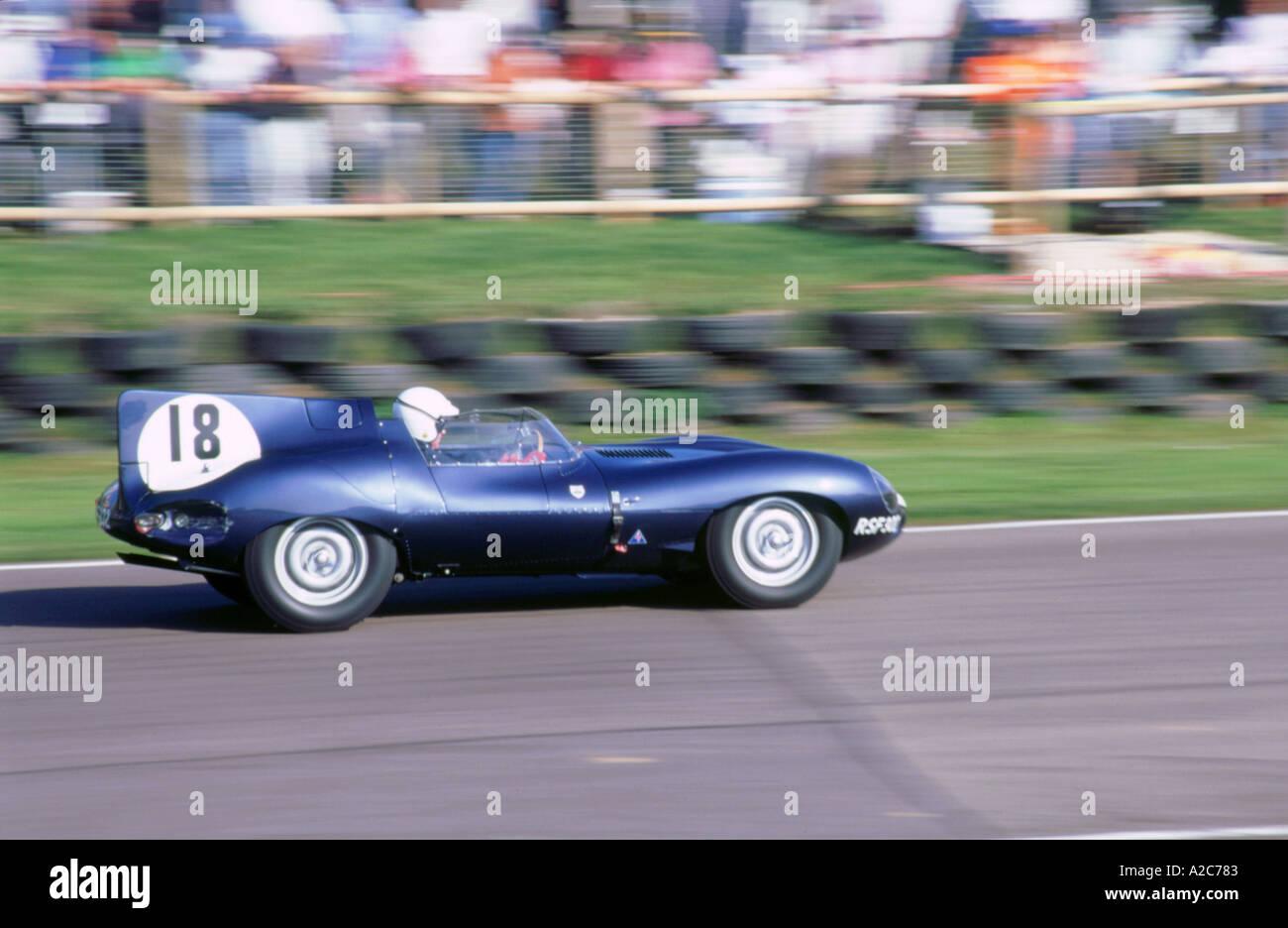 1998 Goodwood Revival Meeting Jaguar D Type   Stock Image
