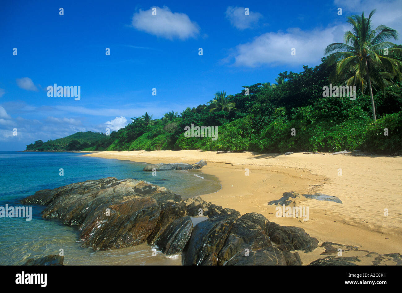 lonely beach on the island Ko Lanta in Thailand - Stock Image