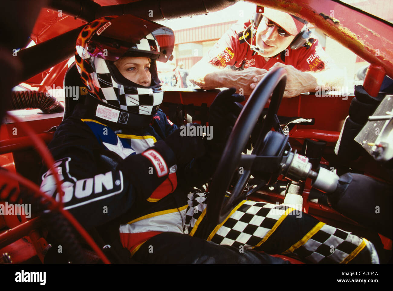 Active Female Race Car Drivers