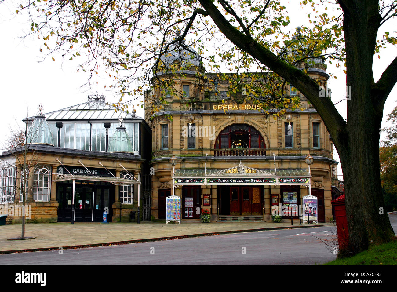 the facade of the art nouveau opera house in buxton derbyshire uk