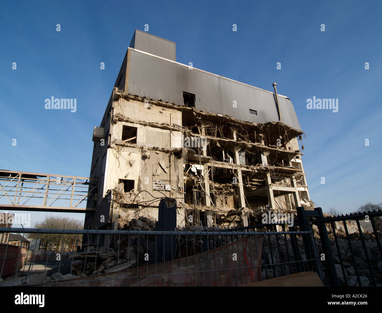 Economy the Oranjeboom Interbrew building is being demolished as production is being centralized elsewhere - Stock Image