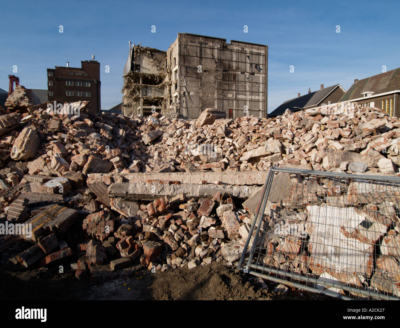 Economy the Oranjeboom Inbev building is being demolished as production is being centralized elsewhere - Stock Image