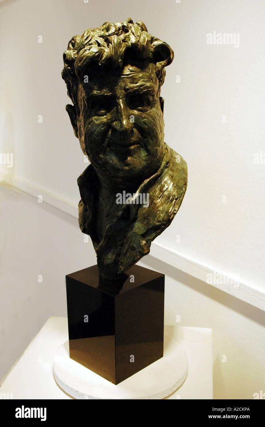 Bust of Brendan Behan Author - Stock Image