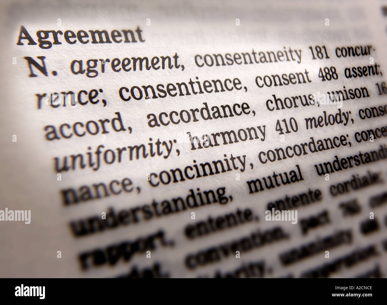 Thesaurus Page Showing Definition Word Stock Photos Thesaurus Page