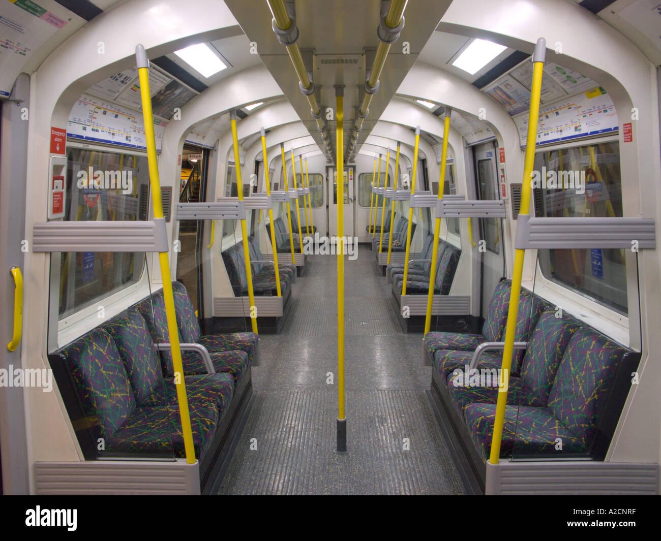 London England Tube Stock Photo
