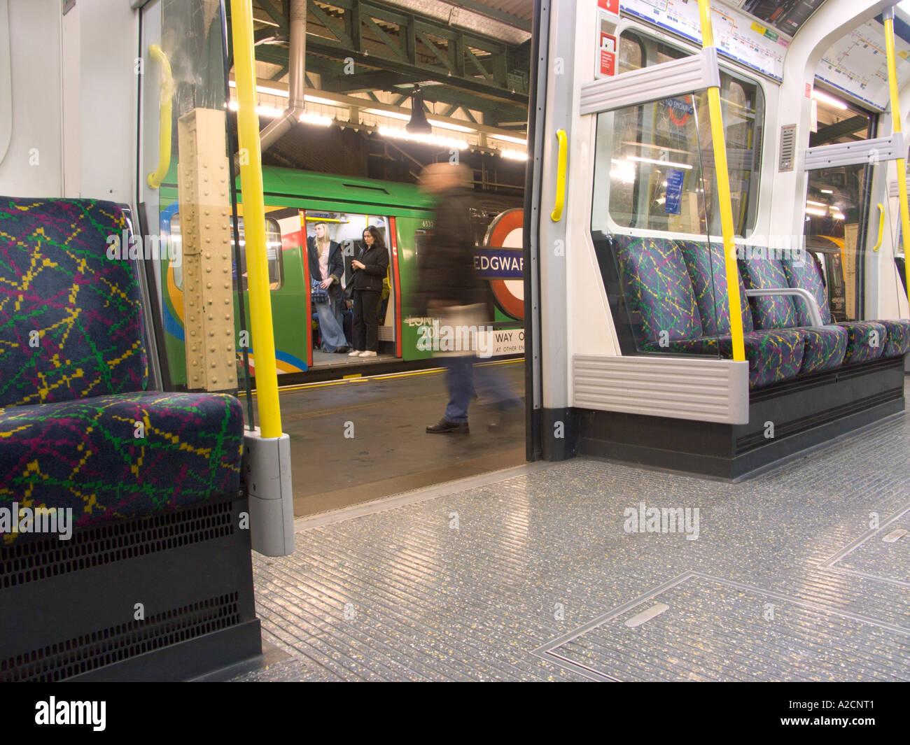 London England Tube Stop Stock Photo