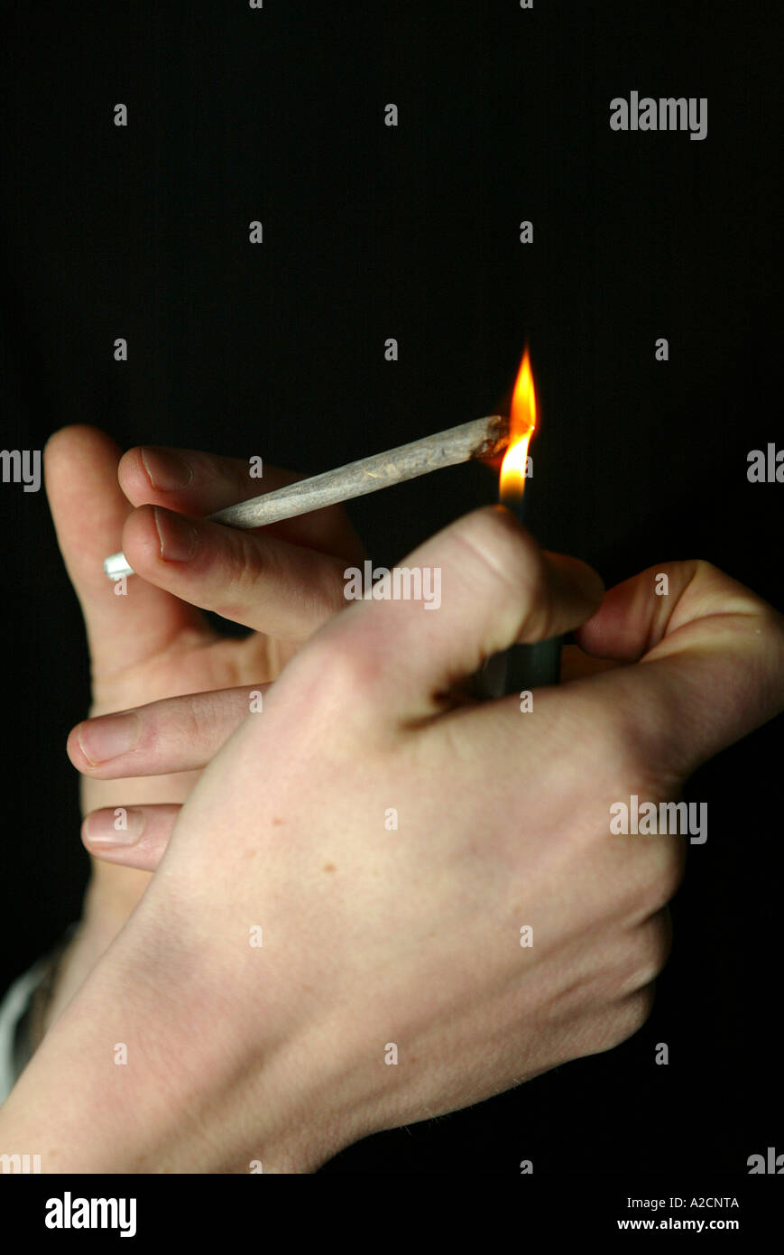cannabis smoker - Stock Image
