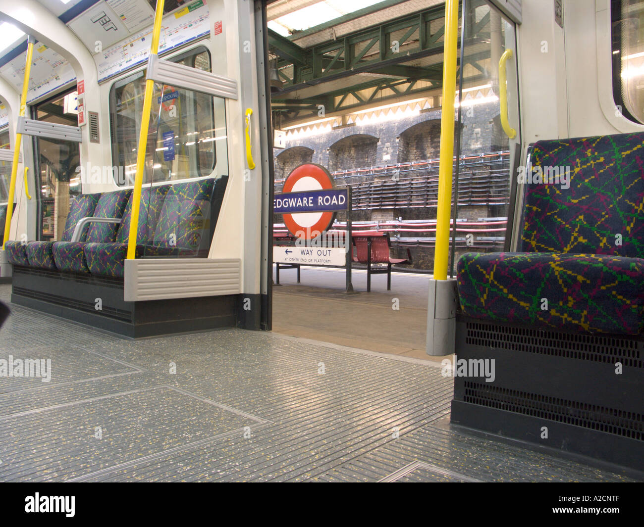 London England Tube Stop - Stock Image