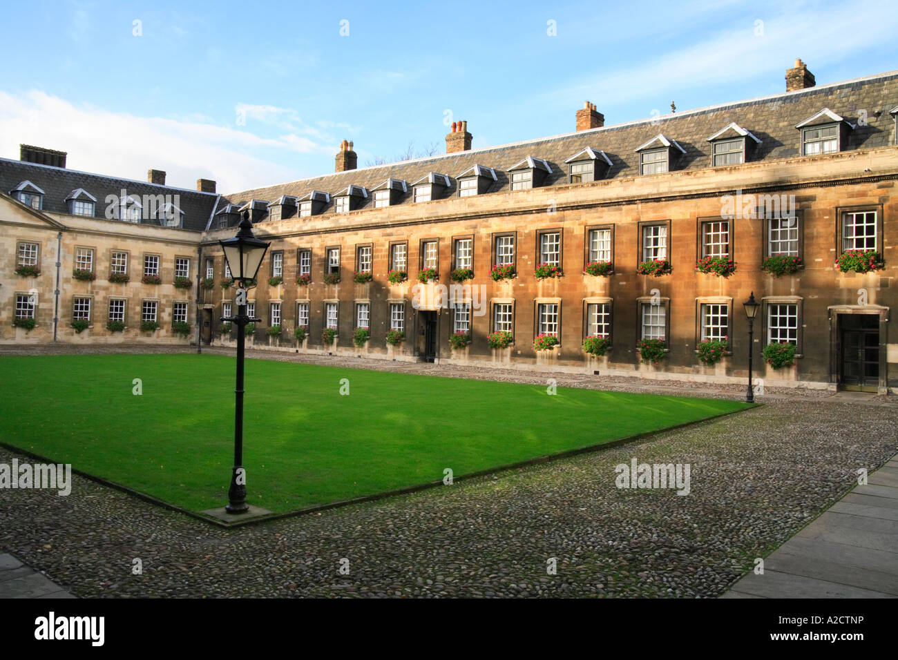 'Peterhouse College' courtyard, 'Cambridge University' - Stock Image