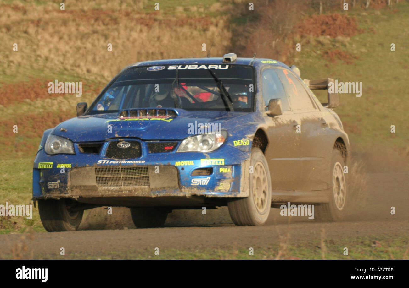 Petter Solberg at the final round of the WRC in Wales, December 2006 - Stock Image