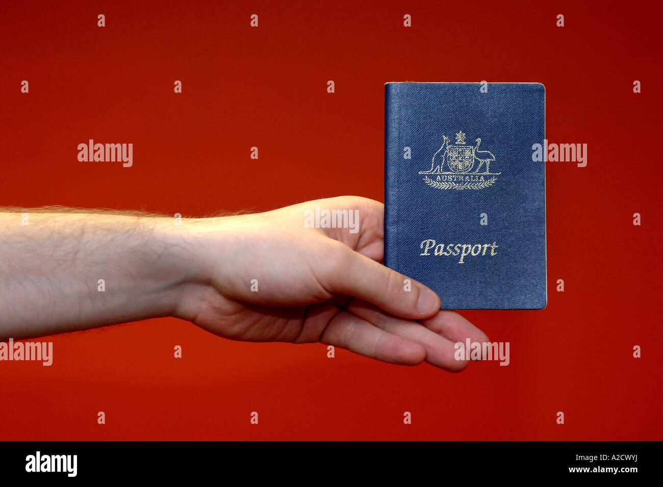 Passport Visa Stock Australian Australia Cover Stock Photos
