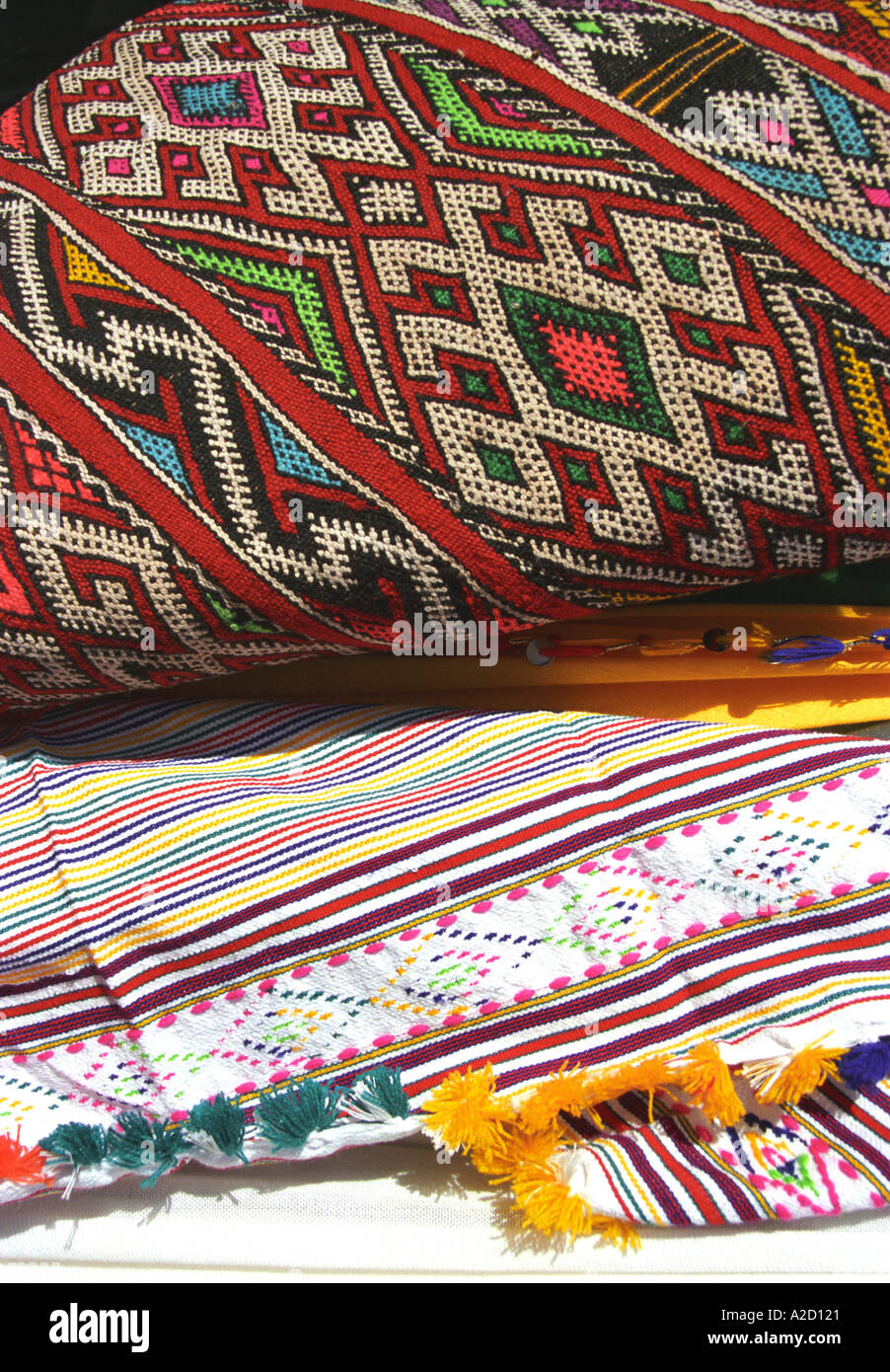 Traditional Handicrafts on Display in Moroccan Markets (Souqs) - Stock Image