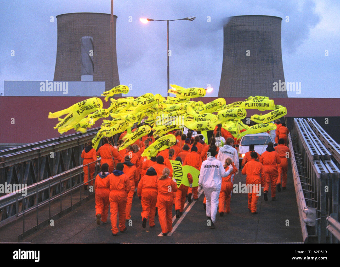 250 Greenpeace activists entered Sellafield nuclear reprocessing plant - Stock Image