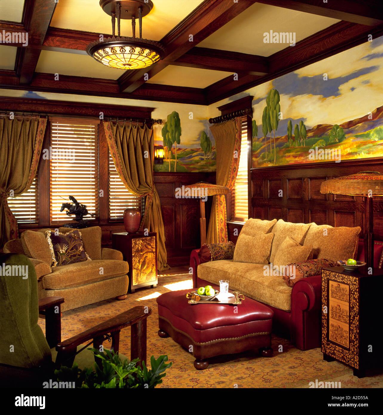 Arts Crafts Living Room Stock Photo Alamy,Diy Kids Small Bedroom Ideas