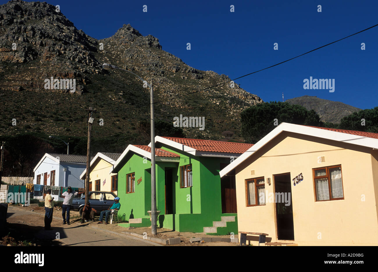 New houses houtbay township imizamo yethu cape town south africa stock image