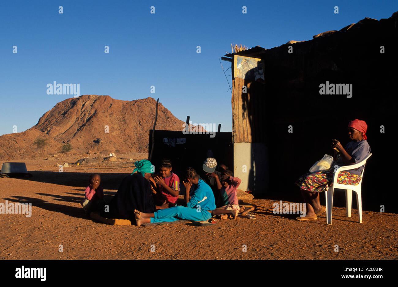 Nama people resettled in Riemvasmaak after the apartheid era Riemvasmaak South Africa - Stock Image
