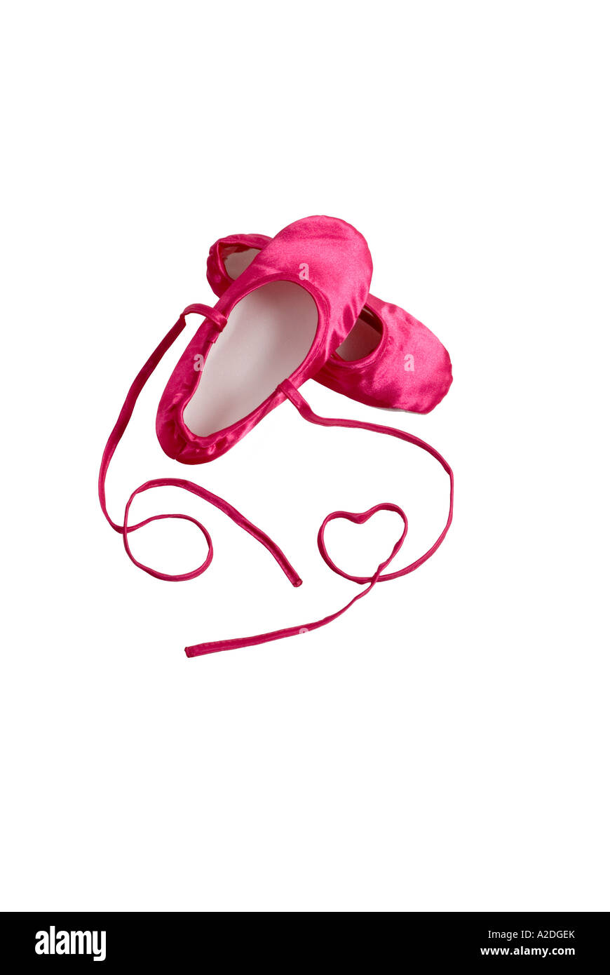 Child's pink ballet shoes - Stock Image