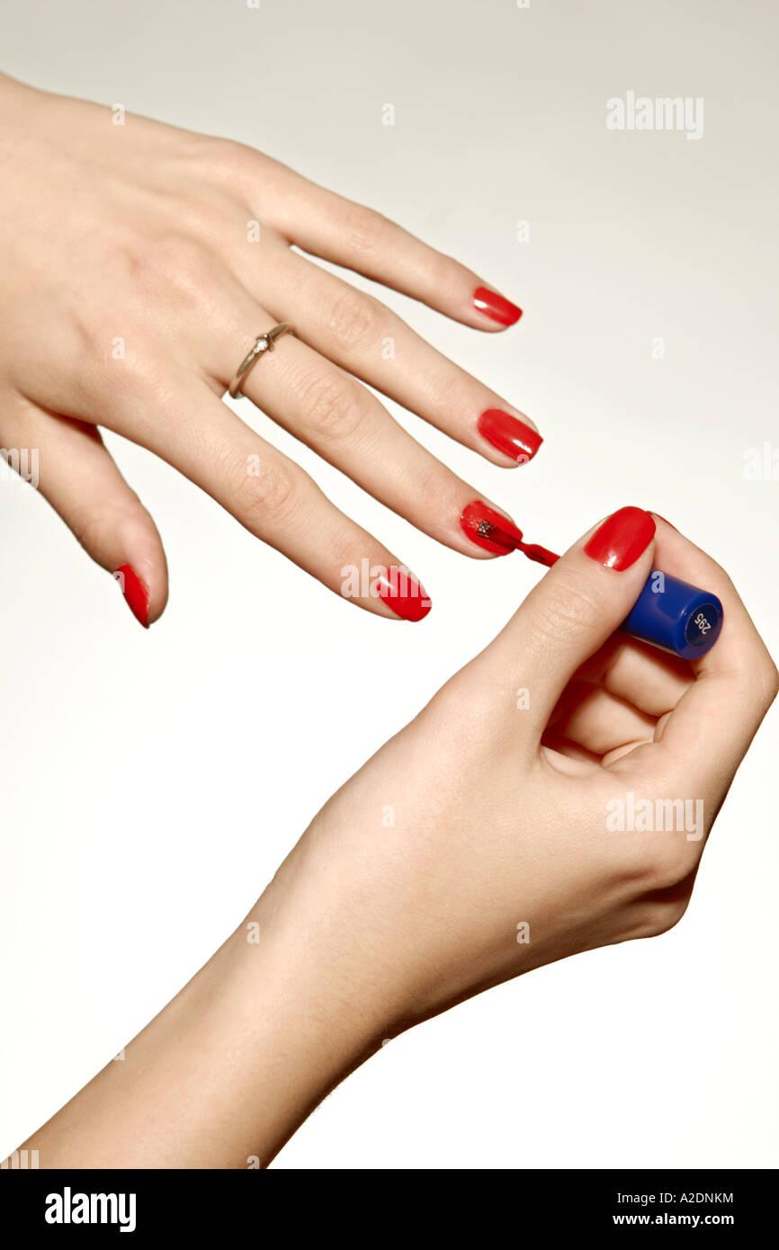 1217516 indoor studio woman fragment hand hands nail nails polish ...
