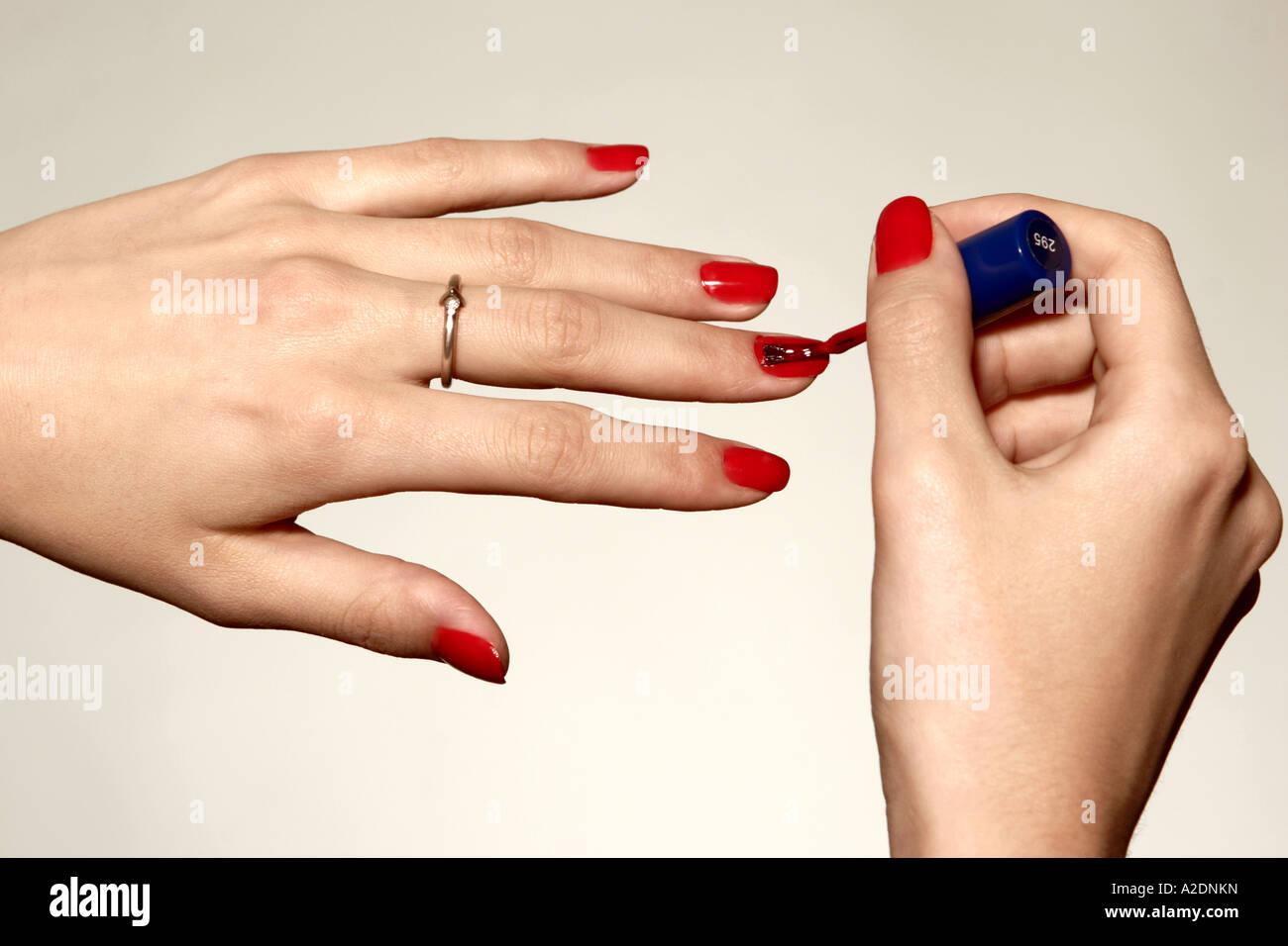 1217517 indoor studio woman fragment hand hands nail nails polish ...