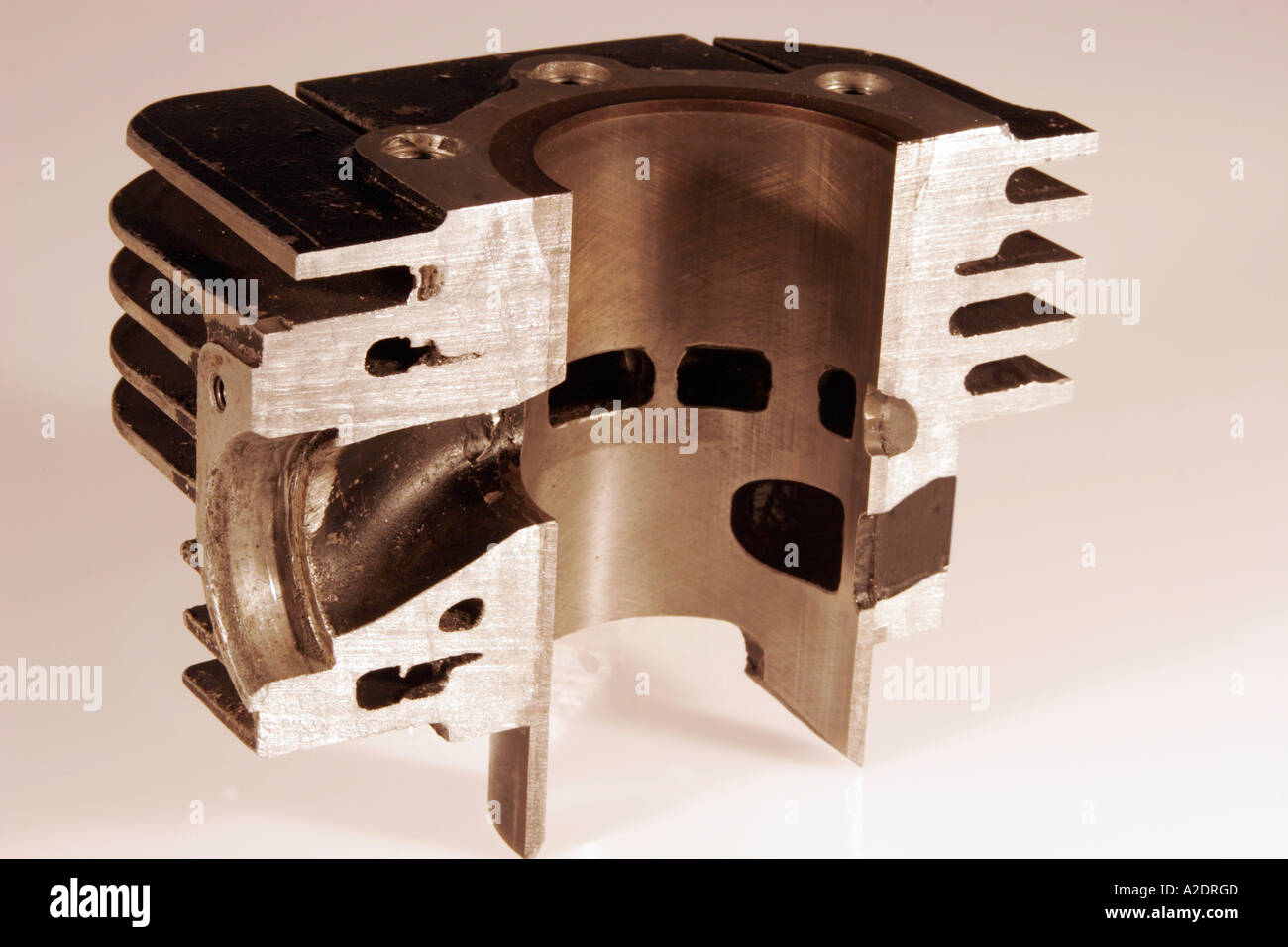 Engine cutaway stock photos engine cutaway stock images alamy 2 stroke engine cylinder malvernweather Choice Image