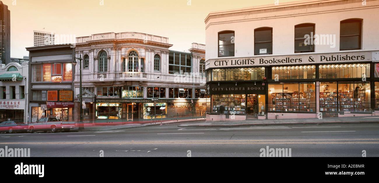 USA CA San Francisco City Lights bookstore - Stock Image