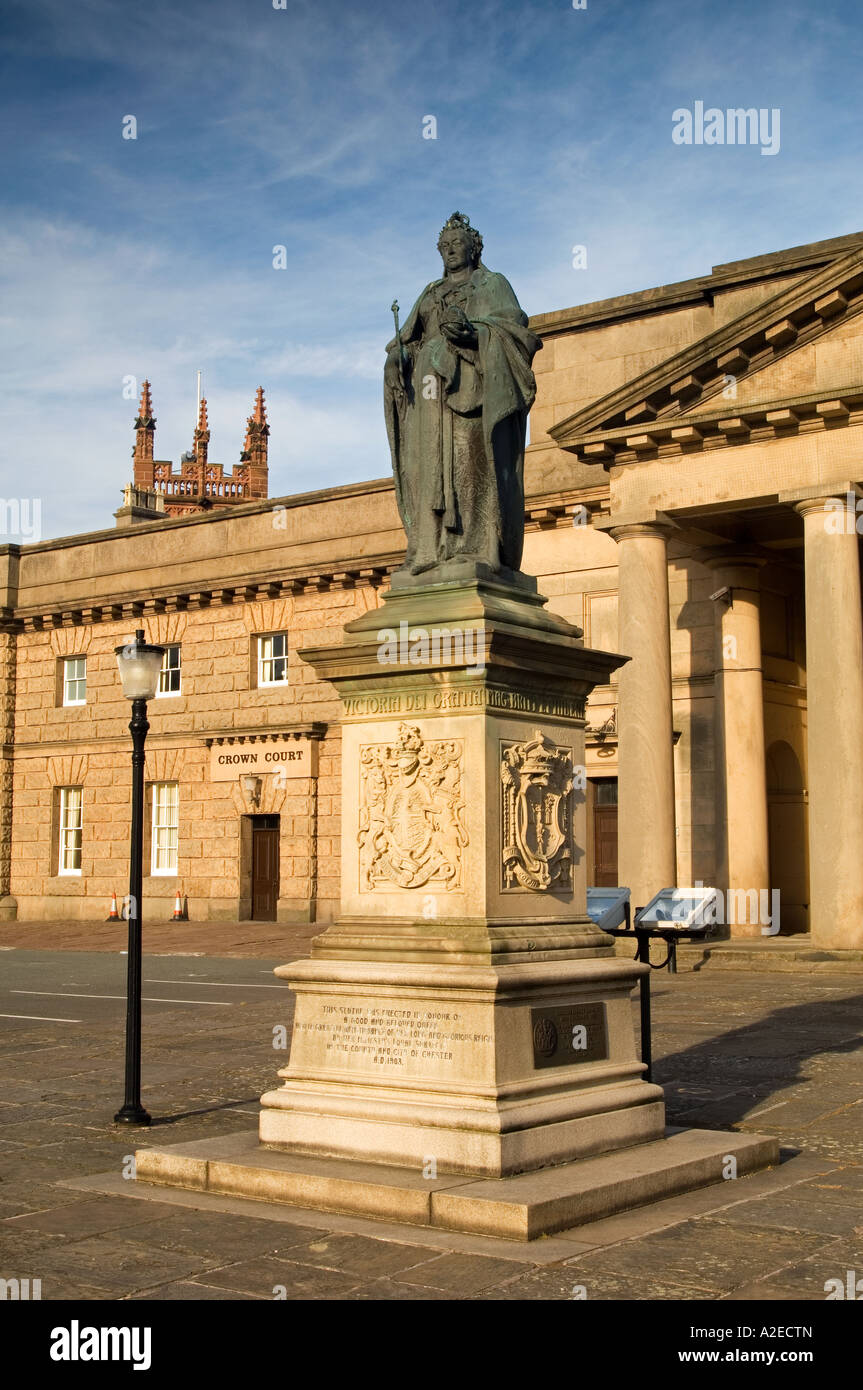 The Crown Court at Chester Castle, Grosvenor Road, Chester, Cheshire, England, UK - Stock Image