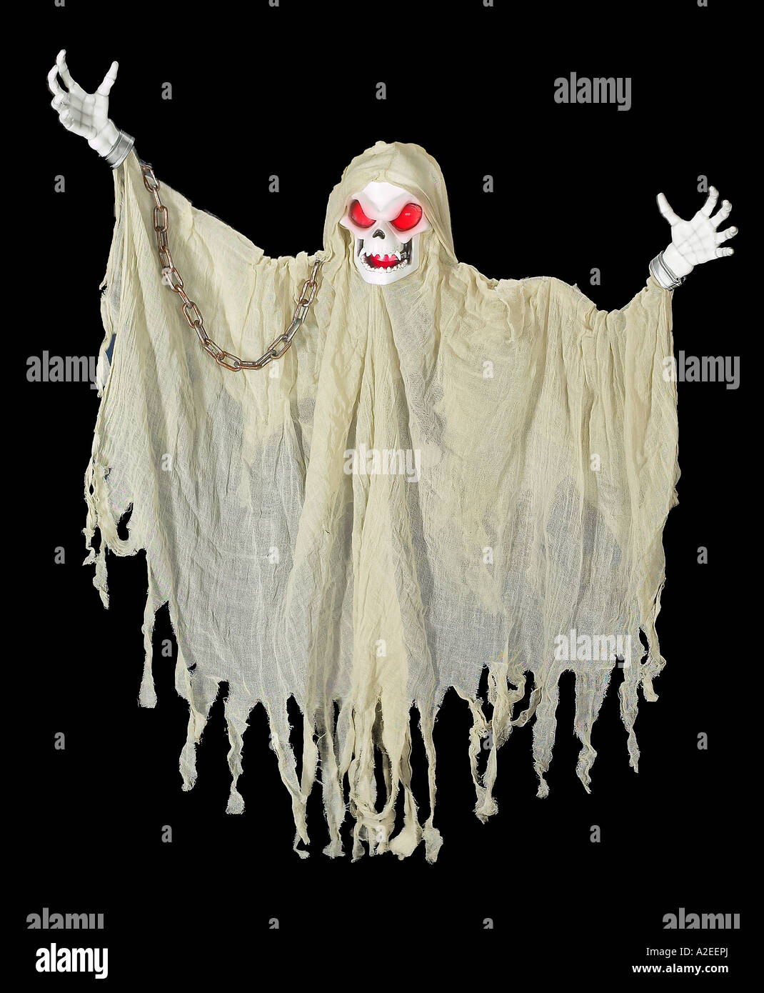 Ghost Ghoul Demon Haunting The Night Of Halloween - Stock Image