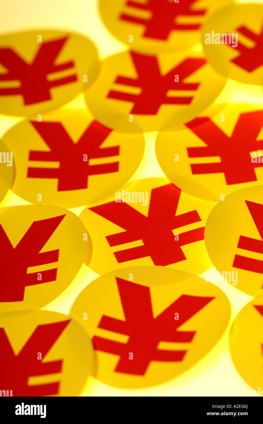 yen symbols - Stock Image