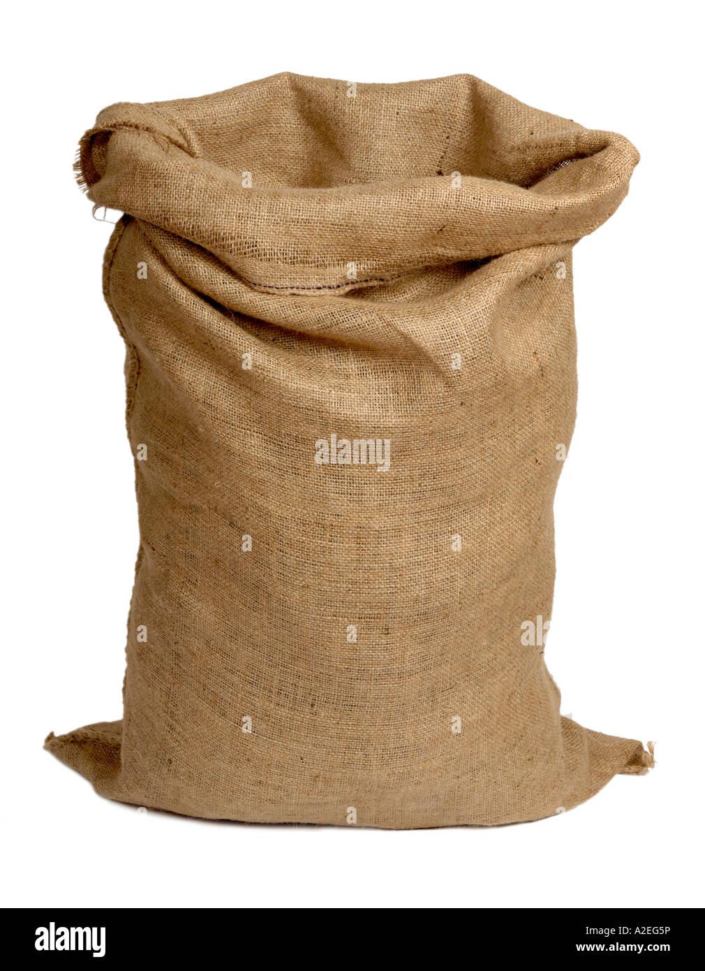 Hessian sack - Stock Image
