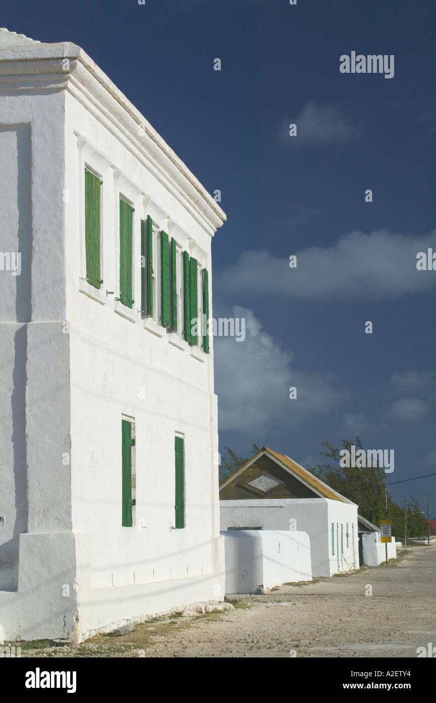 Caribbean, TURKS & CAICOS, Salt Cay Island, Balfour Town, The White House Museum, Former Salt Merchant's Home - Stock Image