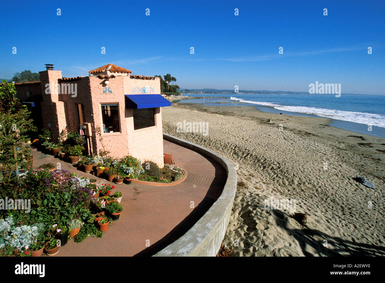 CA Beach houses at Aptos near Santa Cruz - Stock Image