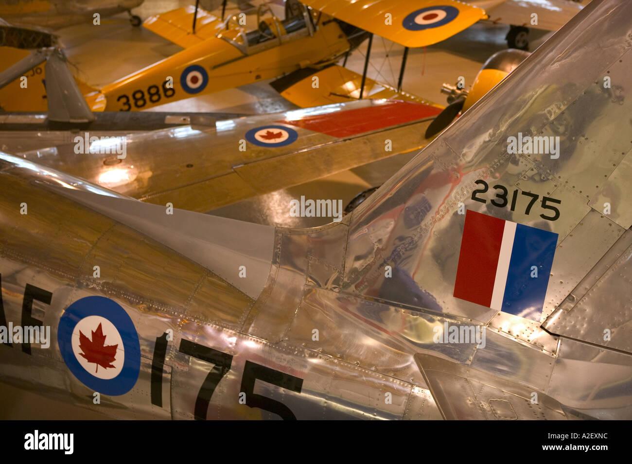 Canada, Alberta, Calgary: Aero Space Museum of Calgary, 1950's Sabre Jet - Stock Image