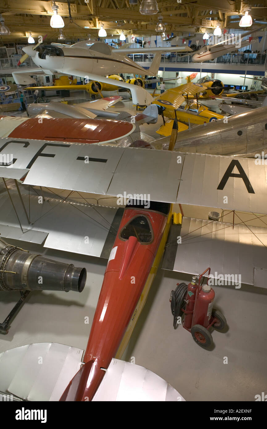 Canada, Alberta, Calgary: Aero Space Museum of Calgary, Interior Aviation Display - Stock Image