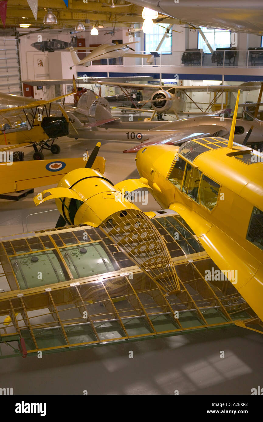 Canada, Alberta, Calgary: Aero Space Museum of Calgary, WW2 Era Avro Anson Training Aircraft - Stock Image