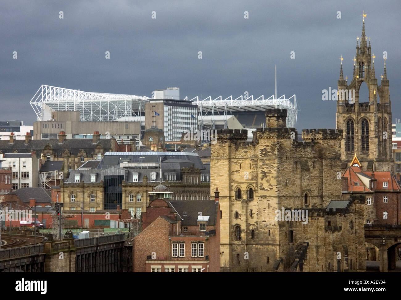 Newcastle United Football Stadium Stock Photos & Newcastle